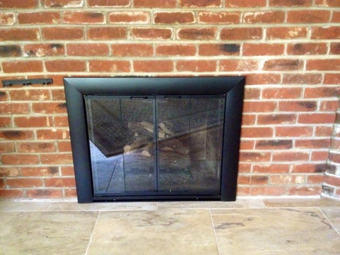 Fireplace Chimney Repair Door And Gas Log Set